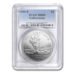 1999-P Yellowstone Park $1 Silver Commemorative - MS-69 PCGS